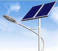 Уличный светильник с двумя солнечными панелями ZK7107