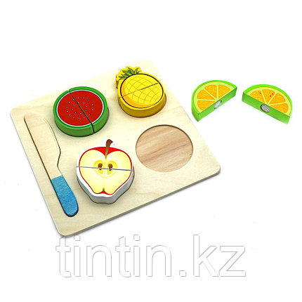 Деревянные фрукты в разрезе, на липучках, фото 2