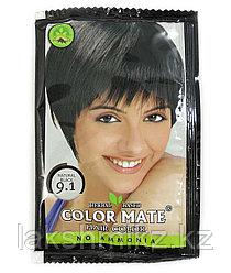 Краска для волос натуральный чёрный тон 9.1 COLOR MATE Hair Color