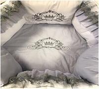 """Комплект в кроватку """"Нежное создание"""" 11 предметов  (для круглой-овальной кроватки)"""
