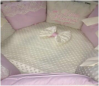 """Комплект в кроватку """"Princess"""" 9 предметов  (для круглой-овальной кроватки)"""