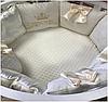 """Комплект в кроватку """"White cloud"""" 9 предметов  (для круглой-овальной кроватки)"""