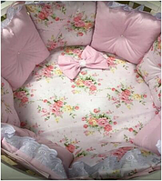 """Комплект в кроватку """"Фея"""" 11 предметов  (для круглой-овальной кроватки)"""