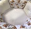 """Комплект в кроватку """"Малыши"""" 9 предметов  (для круглой-овальной кроватки)"""