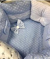 """Комплект в кроватку """"Детки-конфетки"""" 7 предметов  (для прямоугольной кроватки)"""
