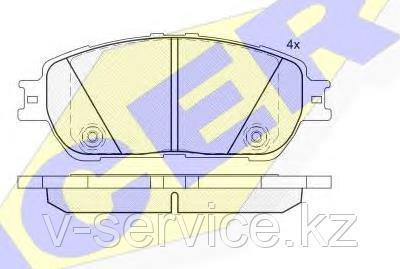 Тормозные колодки ICER 181690(REMSA 898.00)