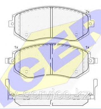 Тормозные колодки ICER 181717(REMSA 951.11)
