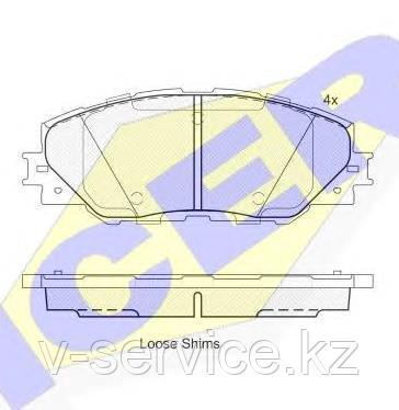 Тормозные колодки ICER 181762(REMSA 1234.00)