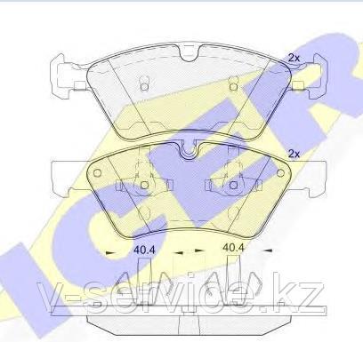 Тормозные колодки ICER 181771(REMSA 1179.00)