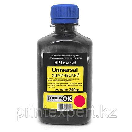 Тонер Toner OK для HP CLJ Universal ХИМИЧЕСКИЙ Magenta (200гр), фото 2