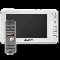 SMILE 7 KIT NOVIcam - комплект: аналоговый видеодомофон SMILE 7 и всепогодная вызывная панель LEGEND SILVER