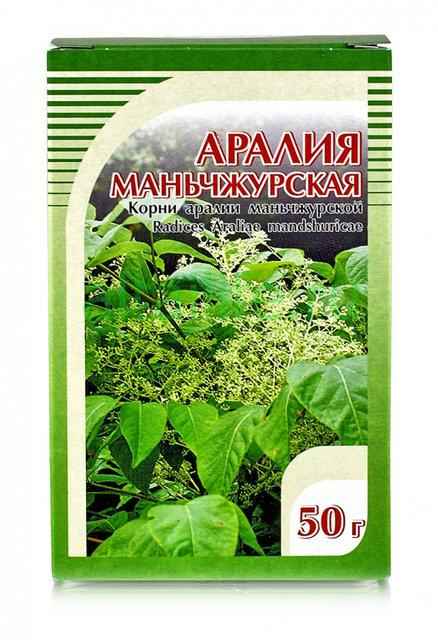 Аралия,корень аралии маньчжурской 50 г