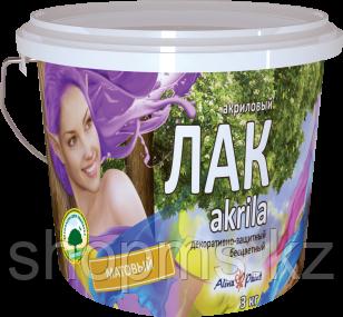 Акриловый лак Alina Paint  Akrila /3кг матовый (на водной основе), фото 2