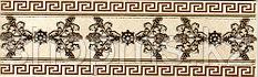 Керамическая плитка PiezaROSA Адамас бордюр золото 270161(25*7,5)