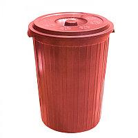 Мусорный бак с крышкой, цветной (75 л.) из пластика