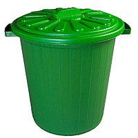 Мусорный бак с крышкой цветной 35 л из пластика, Зета,  ZETA,