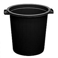 Мусорный бак чёрный 35 л из пластика, Зета,  ZETA,