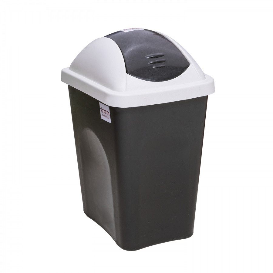 Ведро для мусора 24 л. (с клапаном) из пластика