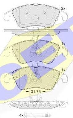 Тормозные колодки ICER 181865(REMSA 1304.00)