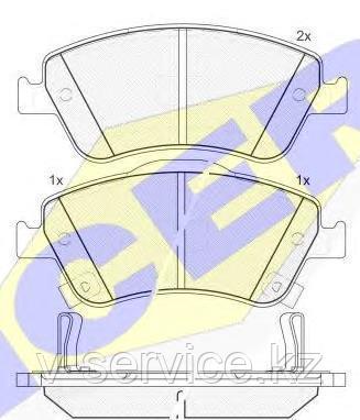Тормозные колодки ICER 181869(REMSA 1310.02)