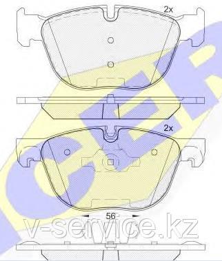 Тормозные колодки ICER 181919(REMSA 1297.00)