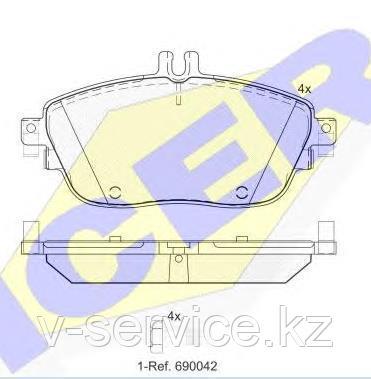 Тормозные колодки ICER 182061(REMSA 1485.08)