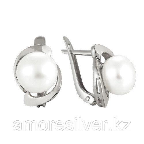 Серебряные серьги с жемчугом   Teosa 290-5-278