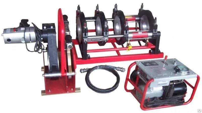 Гидравлический аппарат для стыковой сварки пластиковых труб 280-450мм