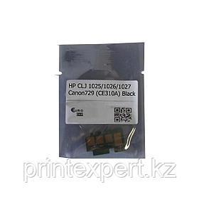 Чип для  HP CLJ 1025/1026/1027/1028/Canon729 (CE310A) 1,2K Black