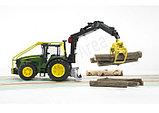Трактор John Deere 7930 лесной с манипулятором, фото 3