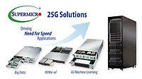 Supermicro открывает путь к сети 100G с новыми 25G Ethernet-серверами и решениями для хранения данных.