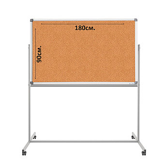 Доска пробковая 90х180 (стенд мобильный).