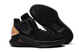 """Баскетбольные кроссовки Air Jordan XXXII (32) """"Black/Gold"""" (40-46)"""