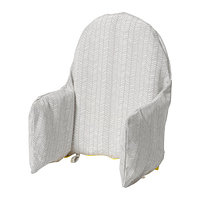 Подушка поддерживающая и чехол КЛЭММИГ серый ИКЕА, IKEA