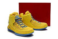 """Баскетбольные кроссовки Air Jordan XXXII (32) """"Yellow/Blue"""" (40-46), фото 6"""