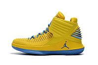 """Баскетбольные кроссовки Air Jordan XXXII (32) """"Yellow/Blue"""" (40-46), фото 2"""