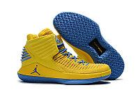 """Баскетбольные кроссовки Air Jordan XXXII (32) """"Yellow/Blue"""" (40-46)"""