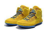 """Баскетбольные кроссовки Air Jordan XXXII (32) """"Yellow/Blue"""" (40-46), фото 3"""