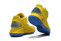 """Баскетбольные кроссовки Air Jordan XXXII (32) """"Yellow/Blue"""" (40-46), фото 4"""