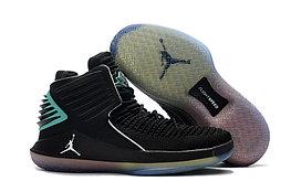 """Баскетбольные кроссовки Air Jordan XXXII (32) """"Black/Hyper Jade"""" (40-46)"""