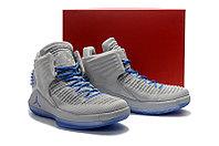 """Баскетбольные кроссовки Air Jordan XXXII (32) """"Grey/Blue"""" (40-46), фото 5"""