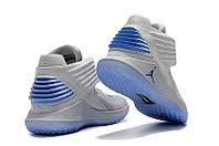 """Баскетбольные кроссовки Air Jordan XXXII (32) """"Grey/Blue"""" (40-46), фото 4"""