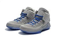 """Баскетбольные кроссовки Air Jordan XXXII (32) """"Grey/Blue"""" (40-46), фото 2"""