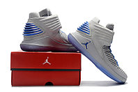 """Баскетбольные кроссовки Air Jordan XXXII (32) """"Grey/Blue"""" (40-46), фото 6"""