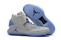 """Баскетбольные кроссовки Air Jordan XXXII (32) """"Grey/Blue"""" (40-46)"""