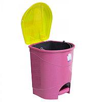 Ведро мусорное с педалью цветное 8 л из пластика, Зета,  ZETA,