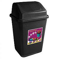 Ведро мусорное с клапаном чёрное 32 л из пластика, Зета,  ZETA,