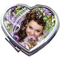 Зеркало металлическое сердце