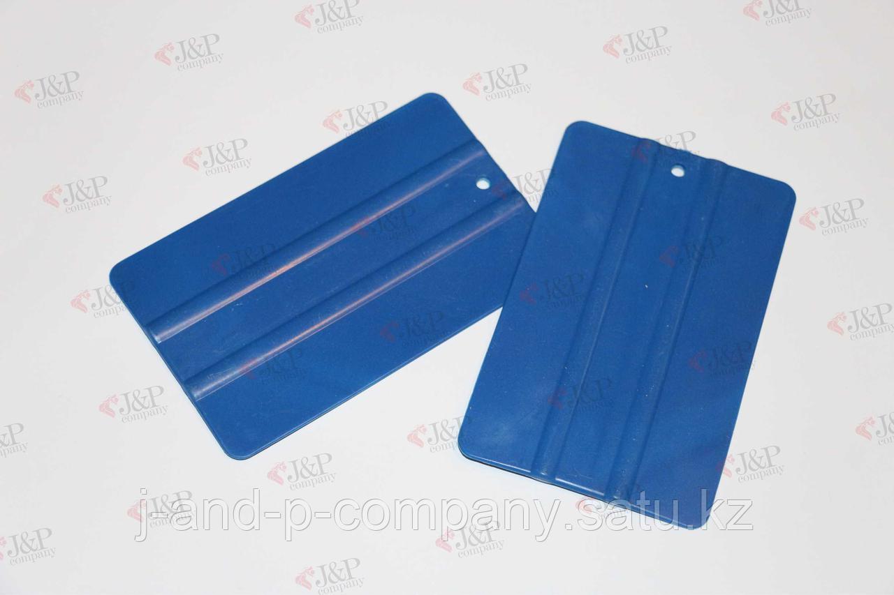 Ракель синий пластиковый большой. 12,5см