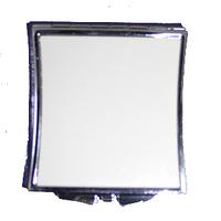 Зеркало металлическое квадрат